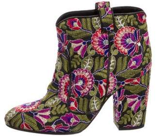 Laurence Dacade Floral Ankle Boots Grey Floral Ankle Boots