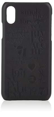 Saint Laurent 1971 Debossed iPhone® X Hard Case - Black