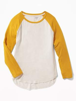 Old Navy Raglan-Sleeve Tulip-Hem Tunic Tee for Girls