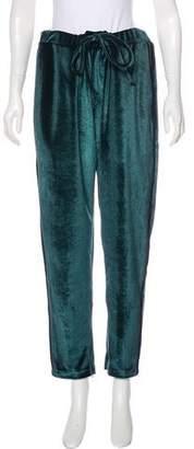 High-Rise Velvet Pants