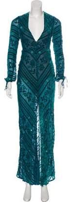 For Love & Lemons Embellished Maxi Dress