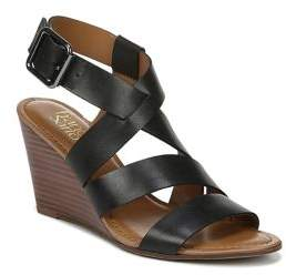Franco Sarto Yara Strappy Leather Wedge Sandals