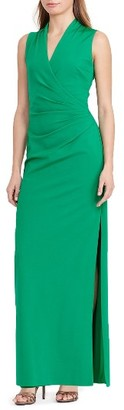 Women's Lauren Ralph Lauren Ruched Gown $190 thestylecure.com