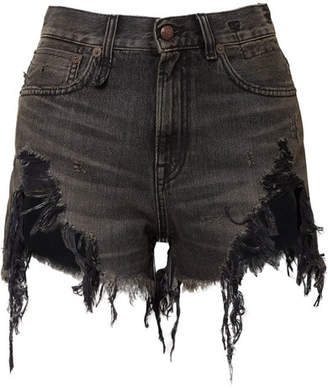 R13 - Distressed Denim Shorts - Black