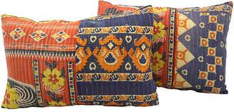 One Kings Lane Vintage Kantha Quilt Pillows - Set of 2