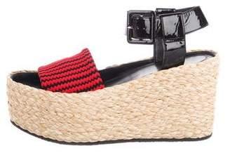 Celine Flatform Espadrille Sandals w/ Tags