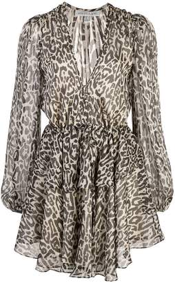 Shona Joy leopard print dress