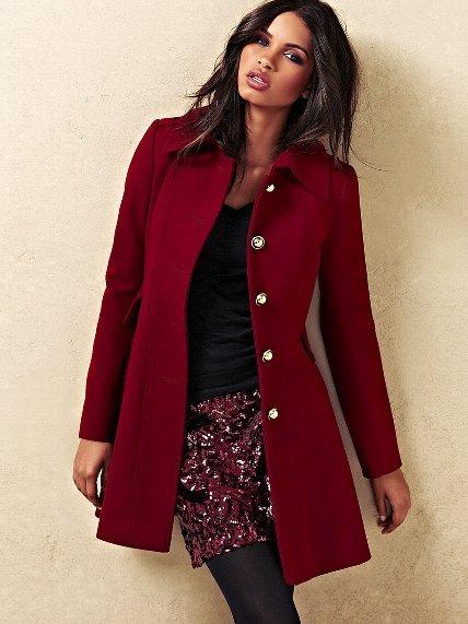 Wool Flare Coat