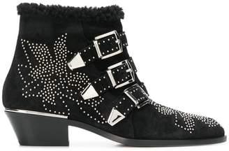Chloé cross-over buckle boots