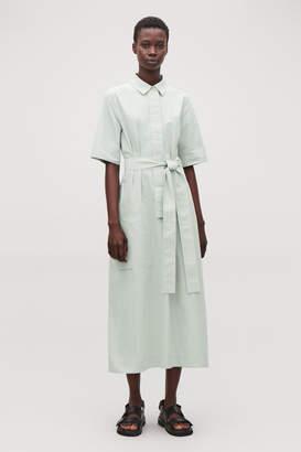 Cos LONG TIE-BELT SHIRT DRESS