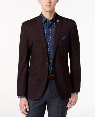 Nick Graham Men's Slim-Fit Plaid Jacket