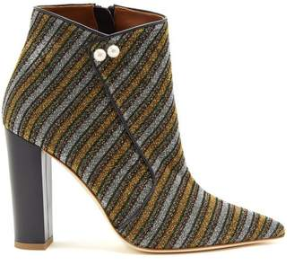 Malone Souliers By Roy Luwolt - X Natalia Vodianova Lada Striped Ankle Boots - Womens - Gold Multi