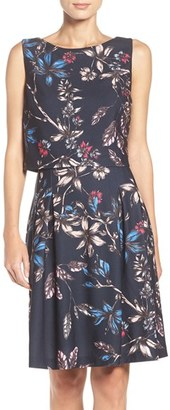 Women's Ivanka Trump Floral Popover Dress $138 thestylecure.com