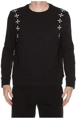 Neil Barrett Cross Print Sweatshirt