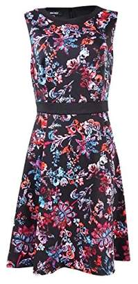 Nine West Women's Printed Sleeveless Fit and Flare Dress