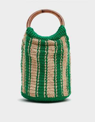 fbded5681b06 Rachel Comey Praia Mini Crochet Bag in Natural   Green