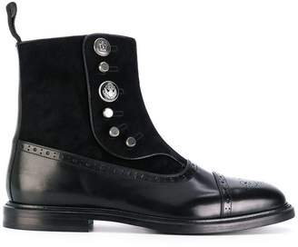 Dolce & Gabbana buttoned brogue detail boots