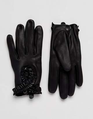Alice Hannah Ruffle Driving Gloves