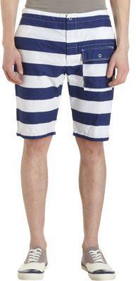 Engineered Garments Horizontal Stripe Shorts