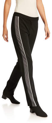 Derek Lam Hanne Slim Fit Leggings with Tuxedo Stripe
