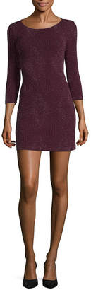Trixxi Every Day Value 3/4 Sleeve A-Line Dress-Juniors