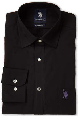 U.S. Polo Assn. Black Solid Tone Regular Fit Dress Shirt