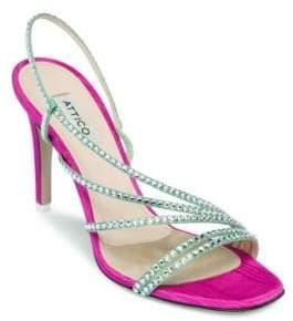 ATTICO Crystal Strappy Sandals