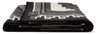 Pendleton Mary Henderson Weavers Series Wool Blend Blanket - White Black