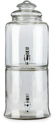 JCPenney Circle Glass Duet Double-Chamber Beverage Dispenser