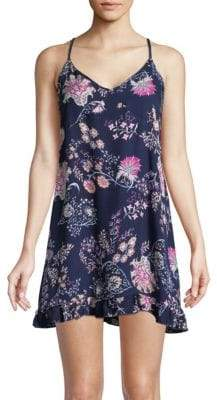Josie Printed Chemise Dress