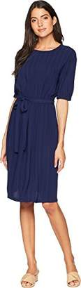 Anne Klein Women's Boatneck Short Sleeve Dress