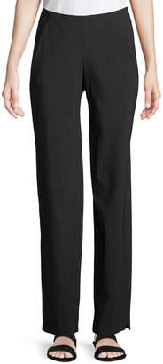 Neiman Marcus Urban Zen Stretch-Wool Straight-Leg Pants