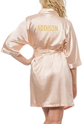 Cathy's Concepts CATHYS CONCEPTS Personalized Glitter Script Satin Robe