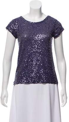 Calypso Sequined Short Sleeve Top