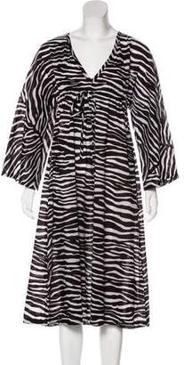 Michael Kors Animal Print Midi Dress