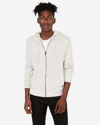 Express Honeycomb Full-Zip Hooded Sweater