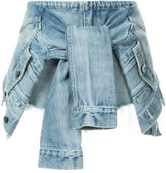 Alexander Wang sleeve tie denim skorts