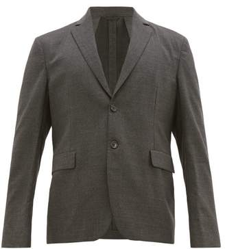 Acne Studios Antibes Single Breasted Wool Blazer - Mens - Grey