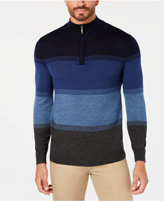 Club Room Men's Merino Birdseye Quarter-Zip Pullover, Created for Macy's