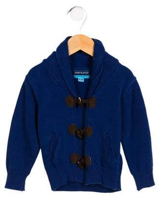 Andy & Evan Boys' Knit Shawl Collar Cardigan
