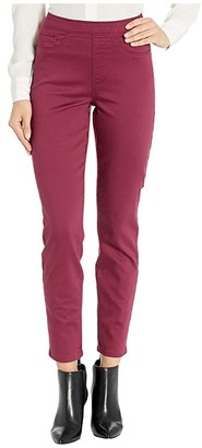 FDJ French Dressing Jeans Stretch Denim Pull-On Ankle in Merlot