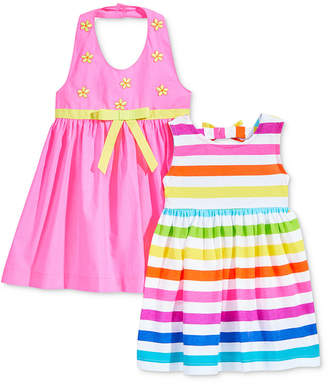 Blueberi Boulevard 2-Pack Woven Dresses, Baby Girls
