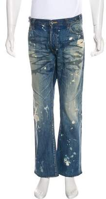 PRPS Distressed Bootcut Jeans