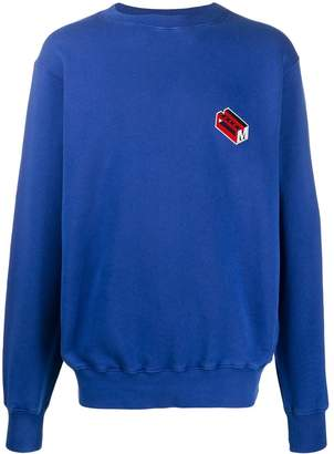 Marni embroidered logo sweatshirt