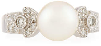 Belpearl 18k White Gold Mixed-Set Diamond & Pearl Ring, Size 6.5