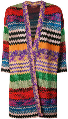 Missoni patterned open cardigan