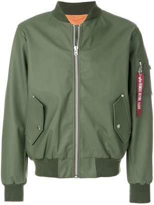 Stutterheim zipped bomber jacket