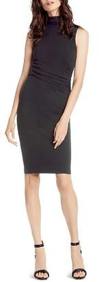 Michael Stars Ruched Mock Neck Dress