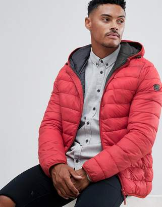 Blend hooded quilted jacket