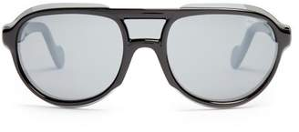 Moncler D Frame Acetate Sunglasses - Mens - Black